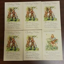 Scripture Lot of 6 Happy Birthday Wishes Religious Christian Postcards