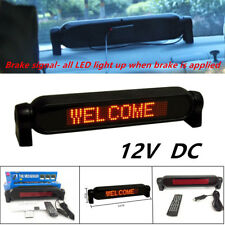 Powerful Car Dash Scrolling LED Panel Display Editable Advertising Window Sign