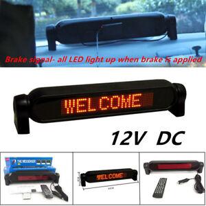 Powerful Car Dash Scrolling LED Panel Display Editable Advertising Window Sign
