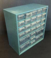 Vintage 27 Drawer Compartment Plastic Storage Cabinet Bin Arts Crafts