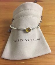 David Yurman chatelaine Bracelet With Citrine 925 Sterling Silver 3mm