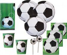 67 Teile Fußball Party Deko Set für 16 Personen - Geburtstag Motto Vereinsfeier
