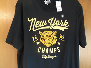 Roebuck & Co. Mens shirt Size Large New With Tags New York 1993 Champs City Leag