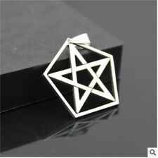 NEW 1PCS pentagram Men's Silver 316L Stainless Steel Titanium Pendant Necklace