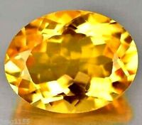 10.26 CT AAA Natural Yellow Zircon Gems 13x11mm Oval Cut VVS Loose Gemstone