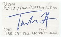 Tash Aw Signed 3x5 Index Card Autographed Signature Author Writer