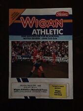 Wigan Athletic v Mansfield Town programme 1987/88