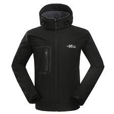 New Mens Winter Soft Shell Hooded Jacket Outdoor Hiking Climbing Waterproof Coat