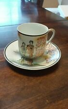 Japaness Small  Geisha tea cup and saucer