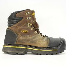 "Keen Mens Milwaukee 6"" WP Steel Toe Work Safety Boots US 9.5 EE WIDE EU 42.5"