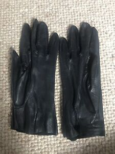 Ladies Black Unlined Leather Gloves Size S