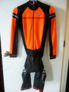 Castelli CX 2.0 Mens Sanremo Speedsuit Skinsuit Large Orange