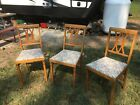 Leg-O-Matic Folding Chairs For Airstream Tiny House (set of 3) Vintage