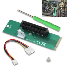 NGFF vers PCI Express 4x Slot Adapter M.2 Key vers PCI-e x4 Interface Riser Card