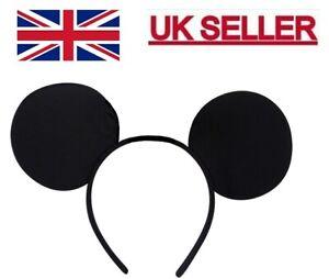 MICKEY MOUSE EARS HEADBAND Fancy Dress Disney Ladies Kids Boys Girls UK