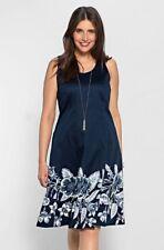 Kleid Gr.50-56-58 Abendkleid Sheego Cocktailkleid festlich blau Damen knielang
