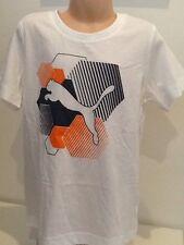 Nuevo-Puma, 7-8 años, camiseta blanca con logotipo