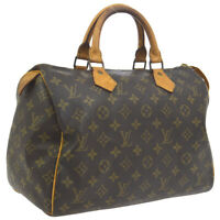 LOUIS VUITTON SPEEDY 30 HAND BAG MONOGRAM CANVAS LEATHER M41526 861SA A46753j