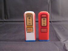 1950s Vintage Atlantic Premium Gasoline Pump Salt & Pepper Shakers