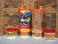 ^ Bundle 6 tupperware neuf Disney Snack tasses, bols avec couvercles, pots, Boîte (orange)