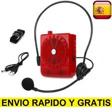 Microfono con amplificador de cabeza altavoz portatil altavoces megafono