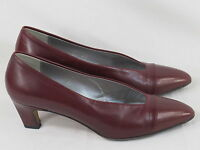 Amalfi Red Leather Hand Made Classic Pumps Size 8 B US Excellent Italy