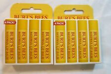 ( 2) 4- Packs Burt's Bees Beeswax Lip Balm With Vitamin E & Peppermint 8 total!!