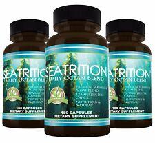 Seatrition Seaweed 550mg 180 veg capsules Brown Kelp Sea Plants Thyroid Support
