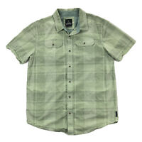 PrAna Marvin Mens Large Green Plaid Long Sleeve Button Up Pocket Shirt