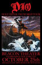 DIO REPLICA *BEACON THEATER* 1983 CONCERT POSTER