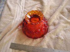Vintage Orange  Antique Art Deco Glass  Light Lamp Shade