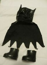 Build-A-Bear Workshop Batman Mask & Cape and Black Rubber Boots - Accessory