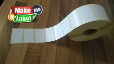 4000 (4 Rolls) Thermal Transfer Labels. S.Gloss White - 50mm x 30mm. Zebra,Epson