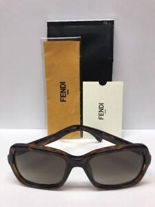 FENDI FF 0007/S EDJHA Havana Brown Sunglasses Made Italy Authentic COA CASE
