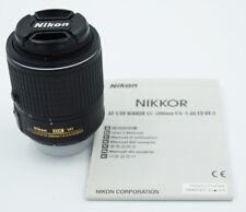 Nikon DX Nikkor AF-S 55-200mm f/4-5.6G VR II Lens w/ Caps, Book #895