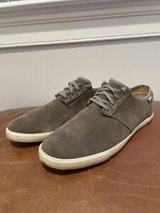 Clarks Mens Forge Vibe Gray Suede Shoes Size 11