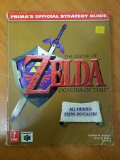 The Legend of Zelda Ocarina of Time Official Strategy Guide Prima N64 Used Cond