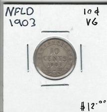 Canada NFLD Newfoundland 1903 Silver 10 Cents VG