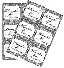 120ct Elegant Thank you for coming Stickers New