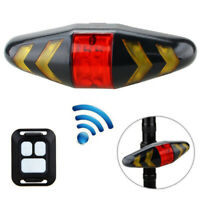 Bicycle Bike Rear LED Tail Light Wireless Remote Control Turn Signal Lamp