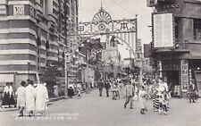 1920-30s RPPC KOREA Seoul street wiew of Hommachi  -  antique old postcard