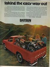 Original 1971 Datsun Li'l Hustler Pickup Magazine Ad - Taking the Easy Way Out