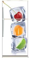 Stickers frigo frigidaire Fruits glaçons 70x170cm réf 6209