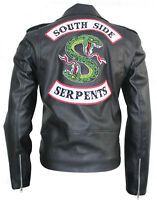 Men Black Southside Schlange Jughead Jones COLE SPROUSE Echtleder Schwarz Jacket