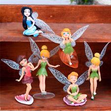 6Pcs Mini Pixie Flower Fairy Figurine Dollhouse Toy Beautiful Garden Decoration.