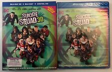 NEW DC SUICIDE SQUAD 3D/2D BLU RAY EXTENDED CUT 3 DISC SET + SLIPCOVER SLEEVE