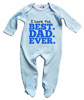 """Dirty Fingers Baby Sleep suit """"Best Dad Ever"""" Gift Romper Father's Day Gift"""