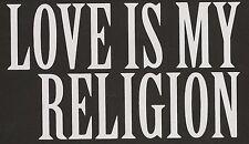 Marley LOVE IS MY RELIGION Bob Ziggy Window Car Truck Art Music Reggae Sticker