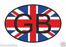 GB GREAT BRITAIN COUNTRY CODE OVAL WITH FLAG BUMPER STICKER LAPTOP STICKER