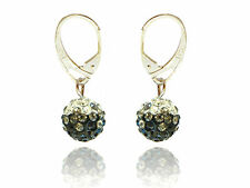 Shamballa Disco Balls Black, Diamond Black & White Fusion Drop Earrings E427